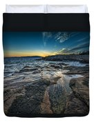 Day's End At Scoodic Point Duvet Cover