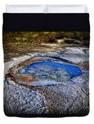 Dead Sea Sink Holes Duvet Cover by Dan Yeger