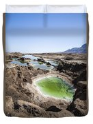 Dead Sea Sinkholes  Duvet Cover by Eyal Bartov