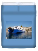 Diagoras Ferry Symi Duvet Cover