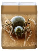 Dictynid Spider Duvet Cover by David M. Phillips