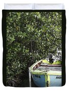 Docked By The Mangrove Trees Duvet Cover