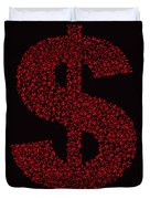 Dollar People Icon Duvet Cover