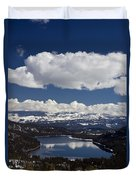 Donner Lake Donner Pass With Snow Duvet Cover
