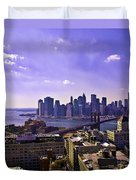 Dumbo View Of Lower Manhattan Duvet Cover
