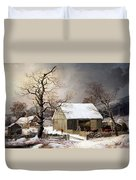 Durrie's Winter In The Country Duvet Cover