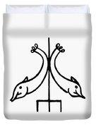 Early Christian Symbol Duvet Cover