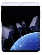 Earth Under Surveillance Duvet Cover