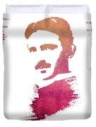 electric generator patent art Nikola Tesla Duvet Cover