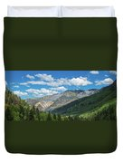 Elevated View Of Trees On Landscape Duvet Cover