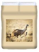 Emu Chicks Duvet Cover by Tim Hester