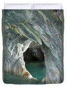 Eroded Marble Shoreline Duvet Cover