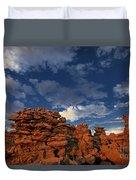 Eroded Sandstone Formations Fantasy Canyon Utah Duvet Cover