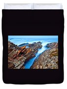 Eternal Tides - The Strange Jagged Rocks And Cliffs Of Montana De Oro State Park In California Duvet Cover
