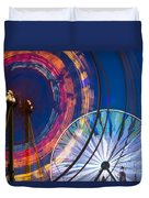 Evergreen State Fair Ferris Wheel Duvet Cover