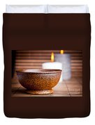 Exotic Bowl And Candles Duvet Cover
