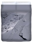 Extreme Skier Going Fast In Beautiful Duvet Cover