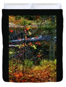 Fall Forest And River Duvet Cover