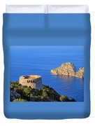 Famous Tower Of Savinar On Ibiza Island Duvet Cover