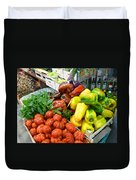 Farmers Market Florence Italy Duvet Cover