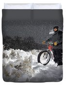 Fat Tire Bike Duvet Cover