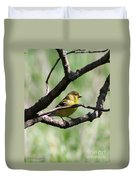 Female American Goldfinch Duvet Cover