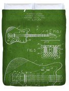 Fender Electric Guitar Patent Drawing From 1966 Duvet Cover