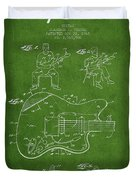 Fender Guitar Patent Drawing From 1960 Duvet Cover