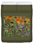 Fiddleneck Flowers Duvet Cover