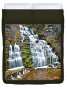 Finger Lakes Waterfall Duvet Cover