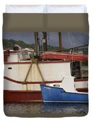 2 Fishing Boats At The Dock Duvet Cover