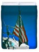 Flag Day Reflection Duvet Cover by Newel Hunter