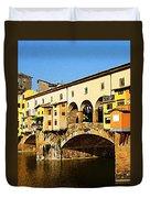 Florence Italy Ponte Vecchio Duvet Cover