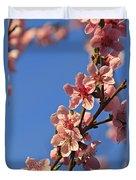 Flowering Peach Tree Duvet Cover