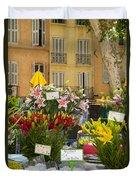 Flowers At Market Duvet Cover