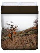 Foggy Landscape Duvet Cover