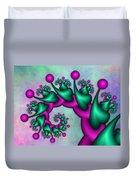 Fractal Neon Catwalk Duvet Cover