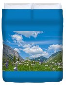 Franconia Notch - Lupine And Daiseys  Duvet Cover