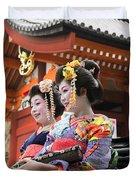 Geishas Senso Ji Duvet Cover