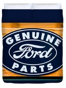 Genuine Ford Parts Sign Duvet Cover