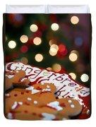 Gingerbread Cookies On Platter Duvet Cover