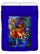 Glass Abstract 691 Duvet Cover