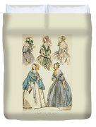 Godey's Lady's Book, 1842 Duvet Cover