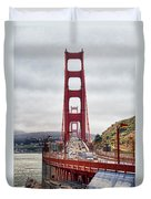 Golden Gate Bridge - San Francisco California Duvet Cover