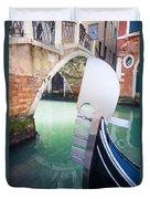 Gondola In Venice Duvet Cover