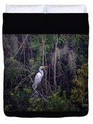 Lowcountry Marsh White Heron Duvet Cover