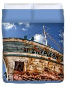 Greek Fishing Boat Duvet Cover