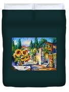 Greek Noon Duvet Cover