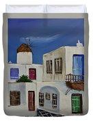 Greek Village Duvet Cover