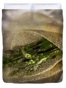 Green Asparagus On Burlab Duvet Cover